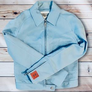 CHANEL Vintage Sport Line CC Powder Blue Jacket